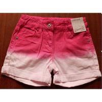 China Primark Denim girl's shorts inventory ,Cheap Faded dyeing hot pants,children denim pant wholesale