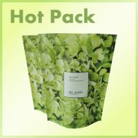 China Eco - Friendly Resealable Printed Stand Up Pouches With Zipper Green Color wholesale