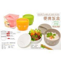 China 2 LAYERS LUNCH BOX - 4 ASSORTED COLOR (PINK / ORANGE / GREEN/ GREY) wholesale