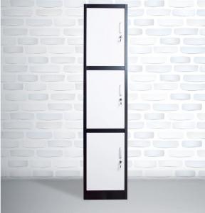 China China steel office furniture single 3 tier lockers / 3 door metal closet on sale