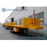 China 30 T Doubel Axles 20 feet Trailer , Flat Bed Dump container semi trailer wholesale
