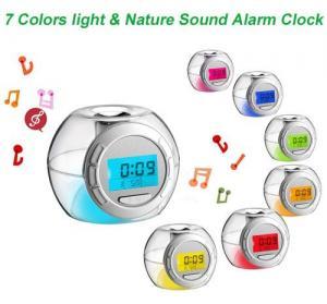 China 7 Colors Light Alarm Clock wholesale