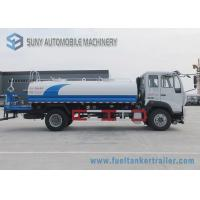 China Sino HOWO Commercial Water Tanker Truck 160 Hp 12000 Liters 4X2 Driving Type 6 Wheels wholesale