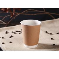 China Coffee Kraft 12 Oz Hot Drink Cups Eco - Friendly With Flexo / Offset Printing wholesale