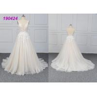 China Beautiful Bridal A Line Ball Gown Wedding Dress Gowns Customize Made All Sizes wholesale