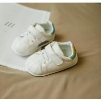 Quality new style white baby shoes sport walking genuine leather shoes lovely pattern good quality for sale