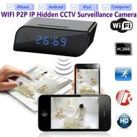 China T8S 720P Alarm Clock WIFI P2P IP Spy Hidden Camera Home Security CCTV Surveillance DVR with Android/iOS App Control on sale