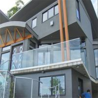 China Exterior Aluminum U Channel Profile Tempered glass balustrade price per metre for Balcony on sale