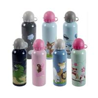 China Blank Sublimation aluminium water bottle with carabiner lid 400ml 500ml 600ml 750ml sport bottle for custom printing wholesale