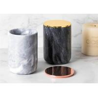 China Top Polished Surface Natural Marble Stone Jar Black And White Color With veins wholesale