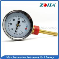 China Bottom Mount Bimetal Dial Thermometer With Chrome Steel Ring And Case wholesale