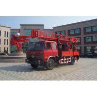 China Portable Truck Mounted Water Well Drilling Rig , Hole Depth 300m - 600m on sale