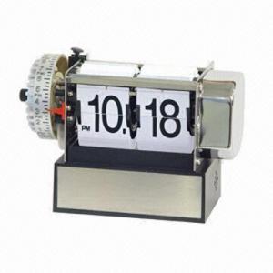 China Telescopic Desk Flip Alarm Clock with BB Alarm on sale