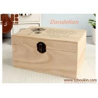 China Retro Style Wooden Jewelry& storage Box with Dandelion Brown Wood, Paint, Metal wholesale