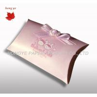 China Small Pillow Recycled Cardboard Gift Boxes For Confectionery wholesale