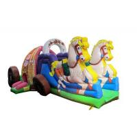China Beautiful Commercial Inflatable Water Slides , Carriage Style Blow Up Water Slide on sale