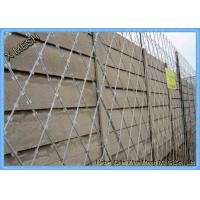 China Galvanized Razor Barbed Wire Fence / Security Barbed Wire Mesh SGS Listed wholesale