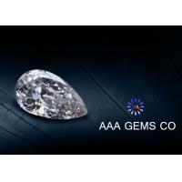 China White Color Pear Cut Moissanite Loose Stones , Synthetic Created Moissanite wholesale