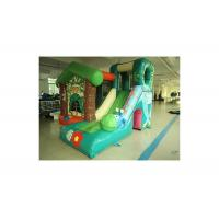 Buy cheap Green Jungle Fun Cabin Inflatable Bouncer With Slide For Kids from wholesalers