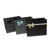 China Cute Dots Paper Party Bag Decorating with butterfly bow for Advertising Packing on sale