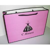 China Art Paper Shopping Carrier Bags For Clothing / Shoes , Paper Merchandise Bags wholesale