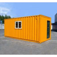 China Orange Prefabricated Shipping Container Homes For Flatpack Office Living Room Residential wholesale