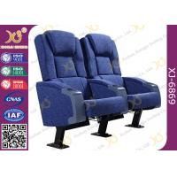 China Cold Rolled Steel Leg Cinema Seating Furniture Movie Theater Chair With Soft Cushion wholesale