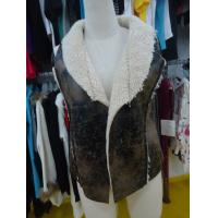 China Sleeveless Womens Faux Fur Winter Coats , Comfy Ladies Lightweight Jackets wholesale