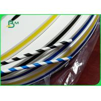 Jumbo Roll 600mm Hard Not Easily Deformed Colored 60 / 120gsm Straw Paper For Drink