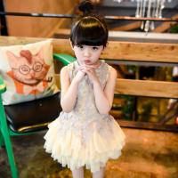 China 2016 Fashion Girl Party Kid's Dress Dancing Chinese Lace Dress Cute Prince Q222 wholesale