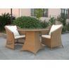 Outdoor Rattan Furniture Sofa Chair Set For Garden / Patio Brown Manufactures