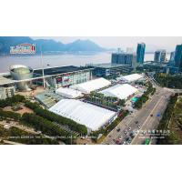 50m Width Aluminum Material White PVC Exhibition Tent For Outdoor Car Show