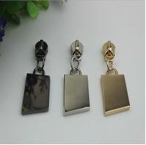 China Professional hardware factory new design NO.5 hot sale zinc alloy nickel color zipper puller slider for handbag wholesale