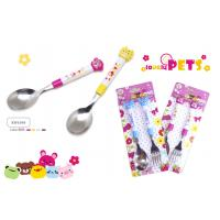 China ANIMAL HEAD OF SPOON & FORK SET (MATERIAL : PLASTIC + STAINLESS STEEL) wholesale