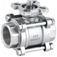 """China Screwed End High Mounting Pad ISO 5211 Ball Valve Wcb / 304 / 316 1/2 """" - 4 """" 1000wog wholesale"""