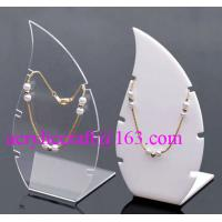 China High Polished Acrylic Necklace Display Stand / Acrylic Necklace Display Rack wholesale