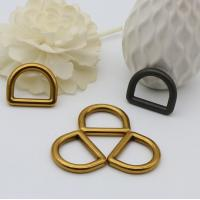 China Lowest cost mass production low-end quality 19 mm bag metal d buckles wholesale