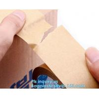 China Water-activated Reinforce Kraft Gummed Paper Tape for Sealing & Strapping,Self adhesive kraft paper gummed tape bagease wholesale