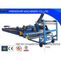 China 3 - 4mm Steel Forming Machine Steel Culvert with Gearbox Driven wholesale