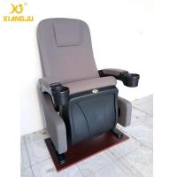 China Ergonomic Backrest Fabric PP Cinema Theater Chairs With Cup Holder wholesale