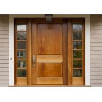 China Residential Custom Solid Wood Doors With Slide Panel , Swing Open Style on sale