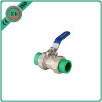 China High Pressure PPR Ball Valve Brass Drain Cock 20 Mm - 63 Mm Welding Connection wholesale