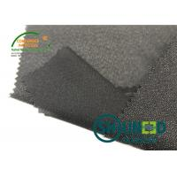 China Lightweight Twill Woven Lining Water Jet Polyester Interfacing Black Color wholesale
