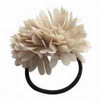 China 4mm x 5.5-inch Ponytail with Flower, Various Colors are Available wholesale