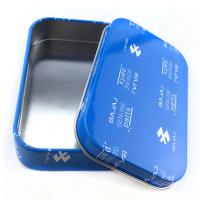 China Rectangular Practical Custom Tin Box Electronics Packaging Cans Offset Printing wholesale