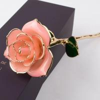 China Valentine's Day Mother's Day Gift Of Real Rose Dipped In Gold New Arrival 24K Gold Plating Roses on sale