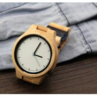 China Popular Handmade Wooden Wrist Watch with Japanese Movement , custom your own logo wholesale