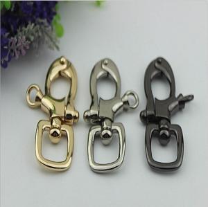 China Novelty design handbag 20 mm nickel color metal spring trigger snap hooks for leather strap wholesale