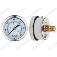 China 63mm  Liquid filled pressure gauge with brass movement , phosphor bronze tube wholesale
