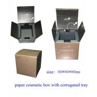 China Paper Cosmetic Packing Box with Corrugated Tray wholesale